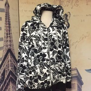 The North Face XL Womens Floral Zip Hooded Jacket